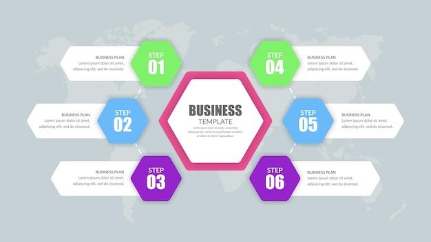 Colorfull infográfico premium para negócios