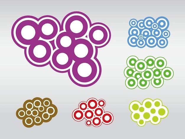 Colorido abstrato do círculo composições vetor