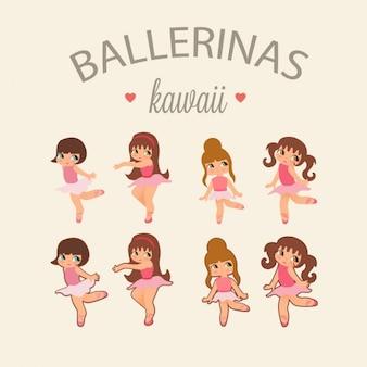 Colorido bailarinas coleção