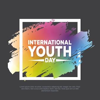 Colorido banner internacional do dia da juventude
