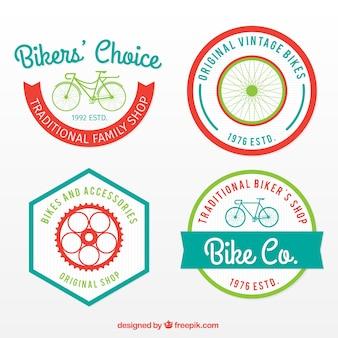 Colorido bicicletas decorativos bonitos etiquetas