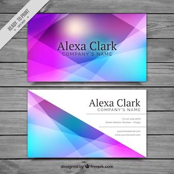 Colorido cartão corporativo geométrico