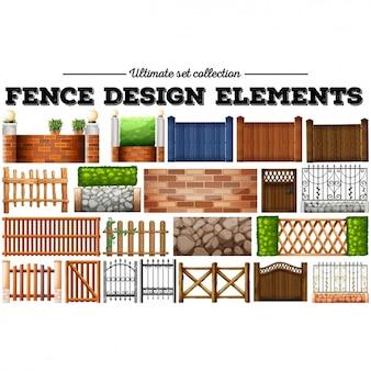 Colorido cercas coleção