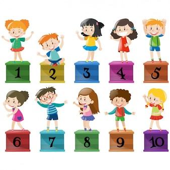 Colorido coleção crianças
