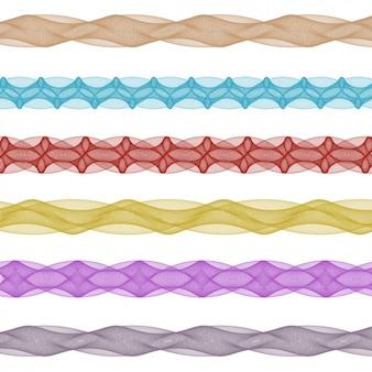 Colorido coleção separadores fractal