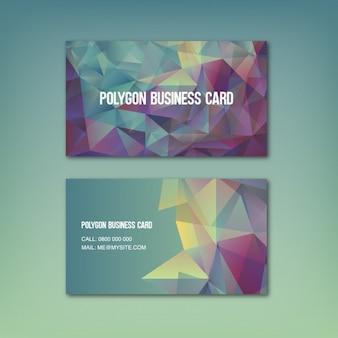 Colorido com formas poligonais cartão de visita