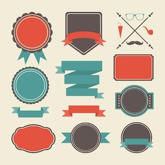 Colorido emblemas coleção