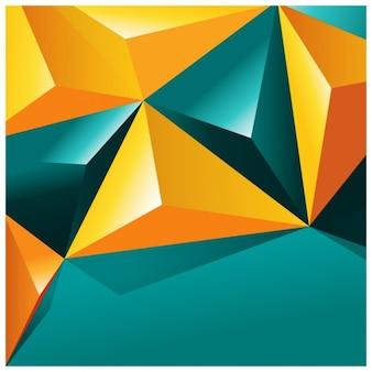 Colorido formas poligonais fundo