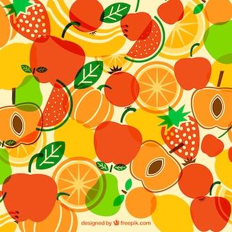 Colorido, fundo, variedade, frutas