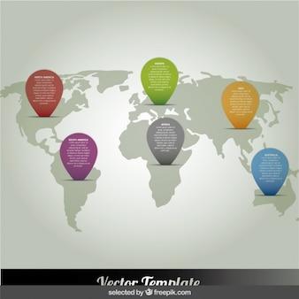 Colorido infográfico demográfico