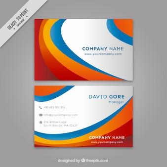 Colorido listras cartão de visita