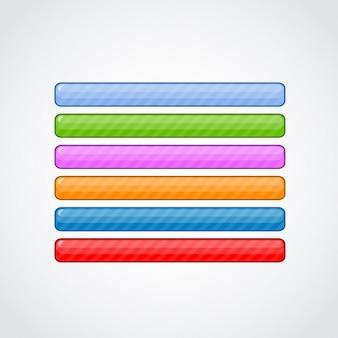 Colorido pacote de botões web