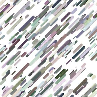 Colorido padrão geométrico aleatório diagonal padrão padrão - design de moda do vetor de listras arredondadas no fundo branco