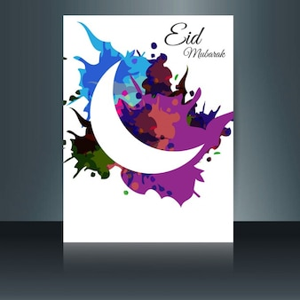Colorido panfleto eid mubarak