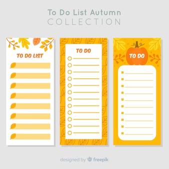 Colorido para fazer a lista de coleção com design plano