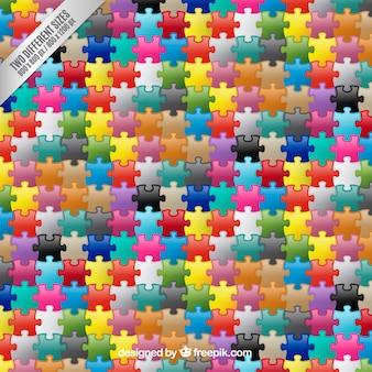 Colorido peças do puzzle fundo