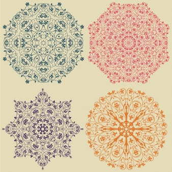 Colorido projeto ornamentos