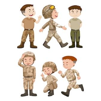 Colorido projeto soldados