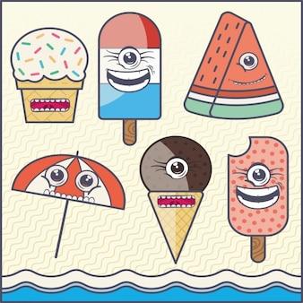 Colorido sorvetes fundo