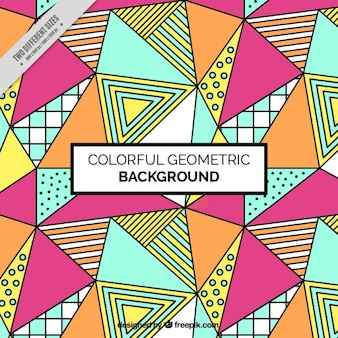 Colorido triângulos fundo