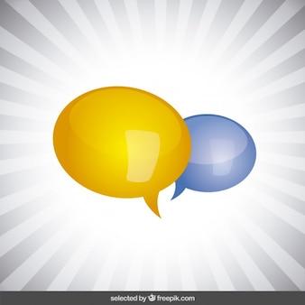 Coloridos balões de fala isolados