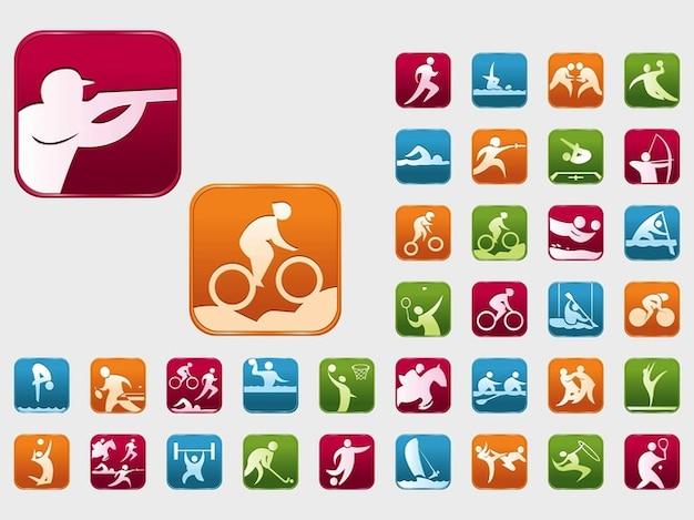 Coloridos esportes olímpicos vetores de eventos