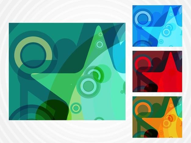 Coloridos estrela cartões da arte pop