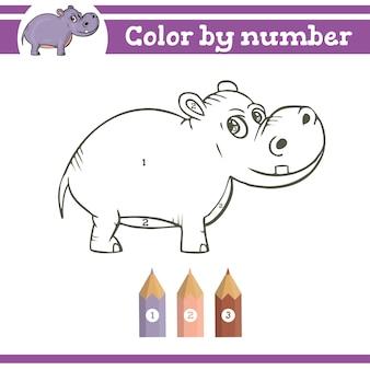Colorir por números para colorir página para crianças pré-escolares aprender jogos educacionais de jardim de infância de números