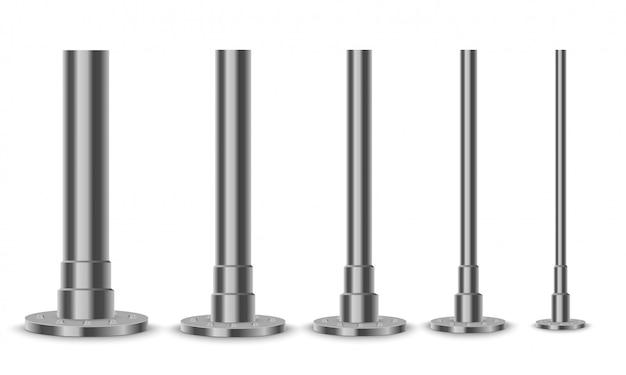 Coluna de metal. o elemento de aço da viga de treliça.