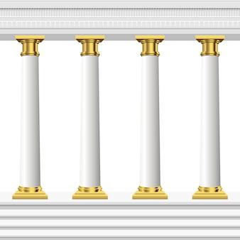 Colunas antigas isoladas