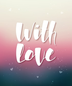 Com amor no fundo desfocado