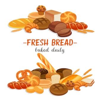 Com produtos de pão