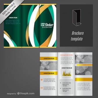 Com três dobras editável brochura mock-up