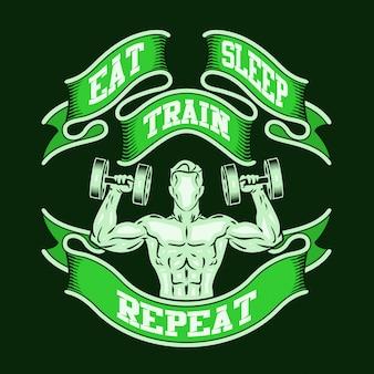 Coma a repetição do trem do sono.