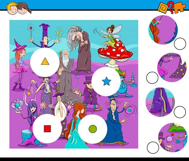 Combina peças com enigmas com feiticeiros