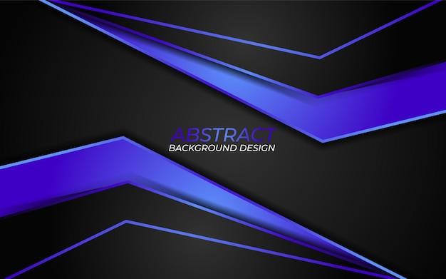 Combinação de fundo escuro abstrato com gradiente de azul