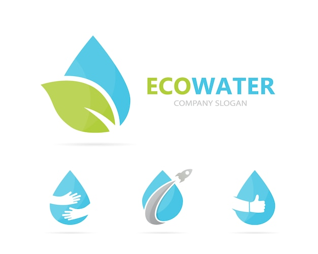 Combinação de logotipo de óleo e folha.
