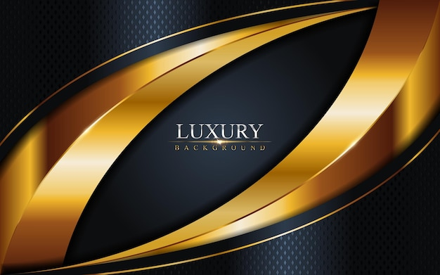 Combinação de luxo dark navy com fundo de linhas douradas. elemento gráfico.