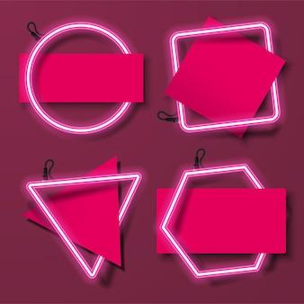Combinação de papel e neon