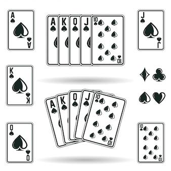 Combinações de cartas de pôquer