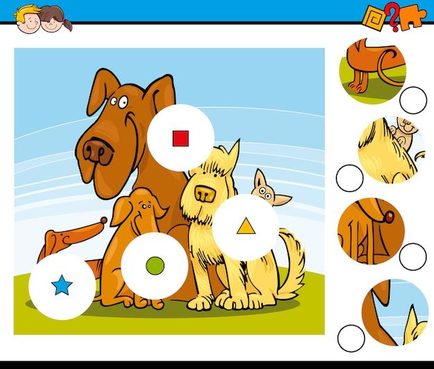 Combinar a tarefa de pedaços com cães