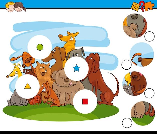 Combinar o jogo de peças com cães