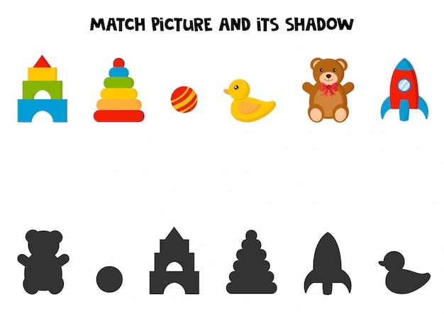Combine a imagem e sua sombra.