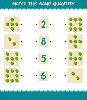 Combine a mesma quantidade de cal. jogo de contagem. jogo educativo para crianças e bebês antes da idade escolar