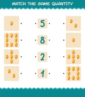 Combine a mesma quantidade de carambola. jogo de contagem. jogo educativo para crianças e bebês antes da idade escolar