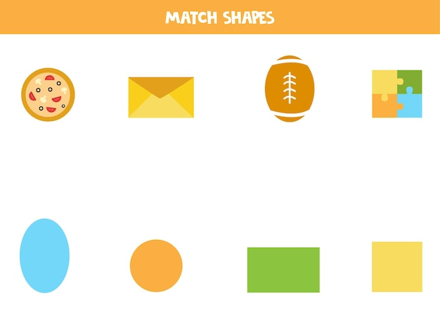 Combine as formas. jogo educativo para aprender formas geométricas básicas.