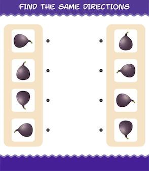 Combine as mesmas direções da fig. jogo de correspondência. jogo educativo para crianças e bebês antes da idade escolar