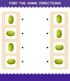 Combine as mesmas direções da jaca. jogo de correspondência. jogo educativo para crianças e bebês antes da idade escolar