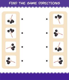 Combine as mesmas direções do sabugueiro. jogo de correspondência. jogo educativo para crianças e bebês antes da idade escolar