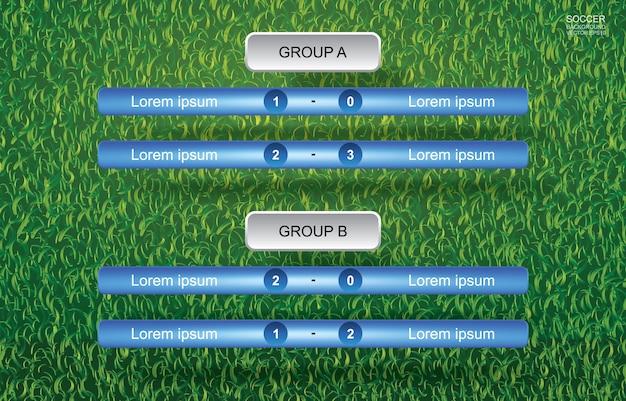 Combine o fundo da programação do copo do futebol do futebol com o fundo da grama verde.